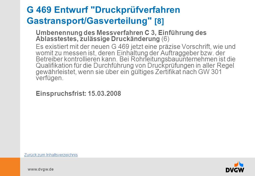 G 469 Entwurf Druckprüfverfahren Gastransport/Gasverteilung [8]